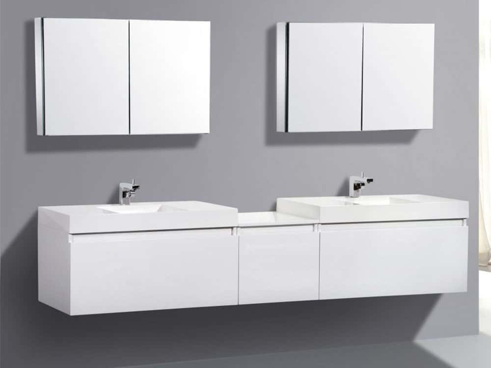lacquer bathroom vanity